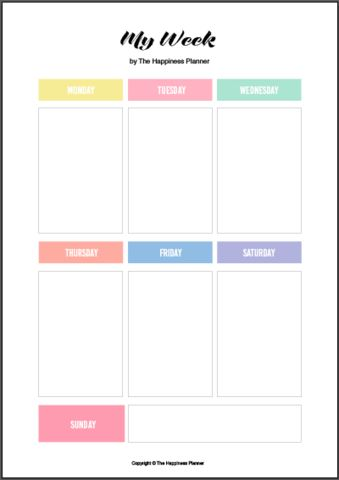 Free printables for you to download and print at your own - free planner template