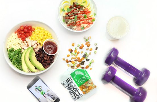 Freshii Meal Box.  A convenient way to stay or get healthy when you're busy. 3 meals and 2 snacks each day.