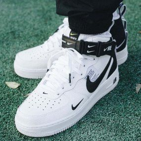 Nike Air Force 1 Mid Gs Mlodziezowe Biale 314195 113