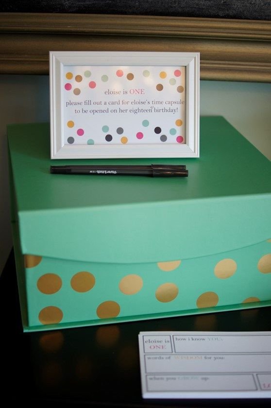 birthday time capsule {first birthday party!} | emerald city diaries