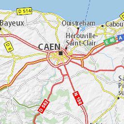 Carte détaillée Calvados - plan Calvados - ViaMichelin
