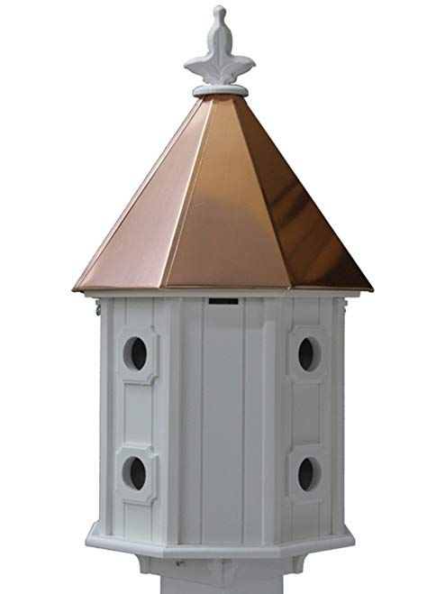 Two Story Birdhouse Copper Roof Made In The Usa Review Bird Houses Bird House Plans Free Copper Roof