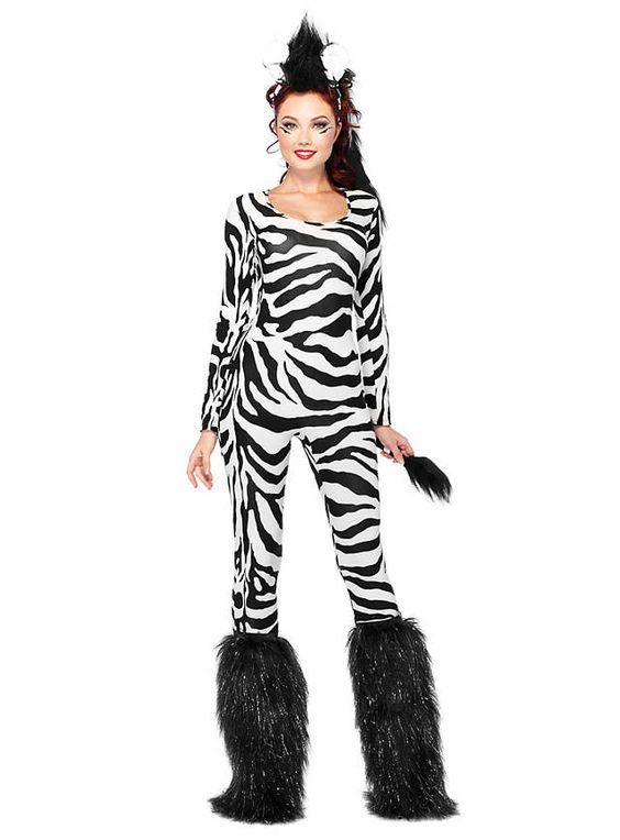 Sexy Steppenzebra Kostüm von maskworld.com #fasching #karneval #zebra #schwarz #weiß