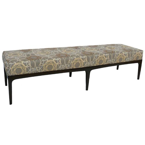 "72"" Mid Century Modern Upholstered Bench 