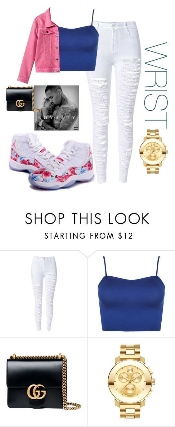 """Untitled #40"" by leighanne679 ❤ liked on Polyvore featuring WithChic, WearAll, Gucci and Movado"