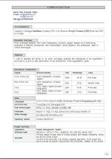 Sample resume software tester fresher