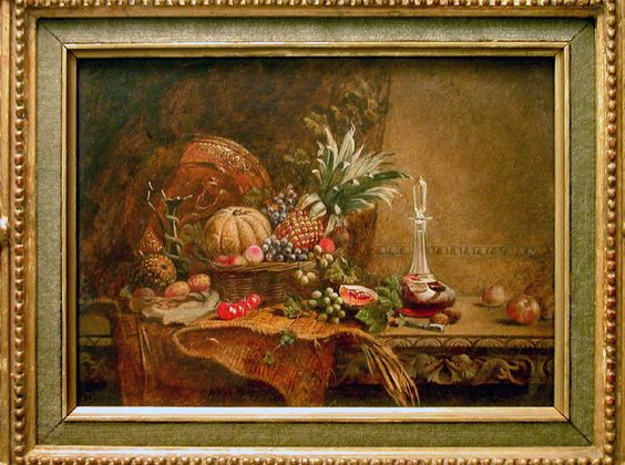 Still Life with Fruits by John Henry Dell - PF.1267b Origin: England Circa: 1836 AD to 1888 AD