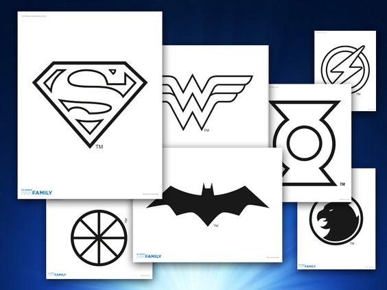 Themed Printables: Justice League Logos | DC Comics | Heroes and ...