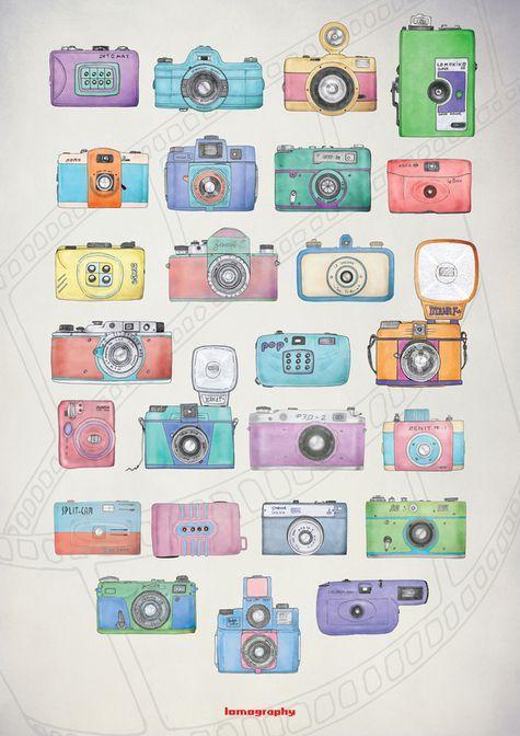 cameras! | #illustrator #illustration #art #color #paint #ilustração #arte #sketch #sketchbook #rough #wip #cartoon