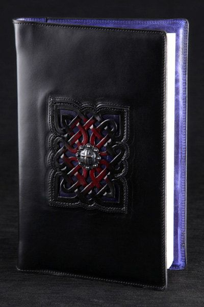 Leather Journal blue journal Onyx Journal by EthosCustomBrands, $175.00