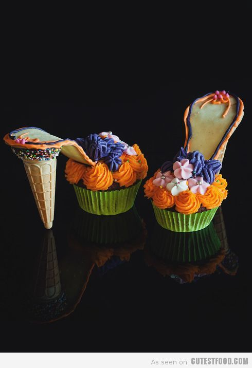 Cute Food, Cute Cupcakes, Designer Cakes, Cupcakes Decorating, Kids Cupcakes, Cupcakes Ideas, Cute Cake: