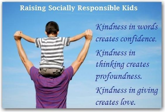 the responsibility of society to rearing good children Raising children as good hindus  take responsibility for being the primary teachers of  disregard the prudent laws of society and stir up negativity.