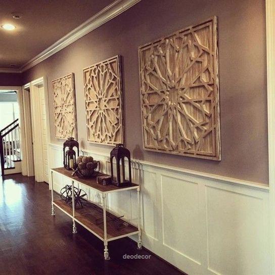 Long Hallway Decor Idea Ft West Elm S Whitewashed Wood Wall Art Hallway Wall Decor Large Wall Decor Long Wall Decor