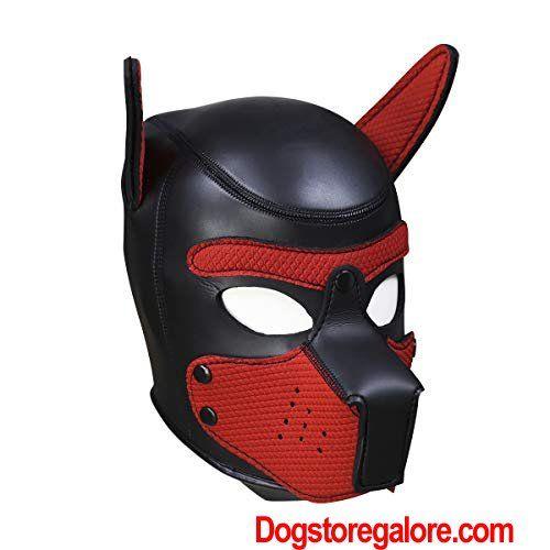 Hot Time Neoprene Puppy Hood Custom Animal Head Mask Novelty