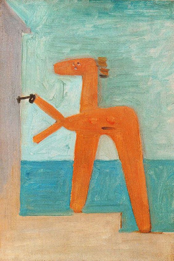 Bather opening a cabin     Artist: Pablo Picasso  Completion Date: 1928  Style: Surrealism  Period: Neoclassicist & Surrealist Period  Genre: nude painting (nu)  Technique: oil  Material: canvas  Dimensions: 32.8 x 22 cm  Gallery: Musée Picasso, Paris, France