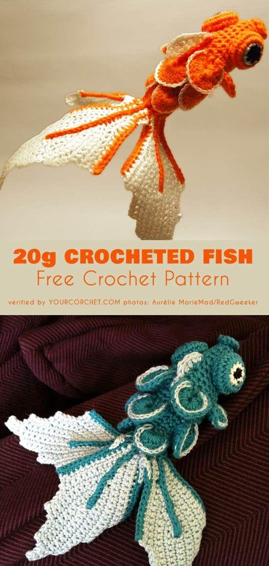 Fancy Crochet Goldfish Patterns {Video} | The WHOot | 1155x550