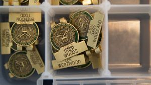 When contestants for this year's U.S. Open at Chambers Bay register, they receive their competitor's badge from the USGA.