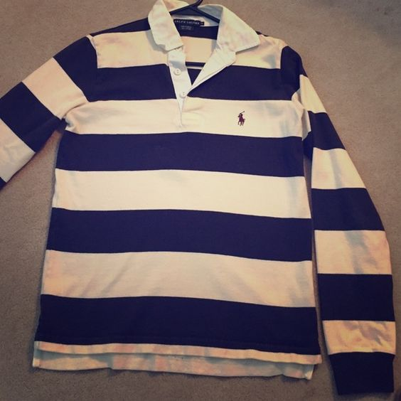 Ralph Lauren rugby polo A favorite of mine but I barely wear it. Gently used condition. No holes or tears. Size small. Long sleeves. Great classic piece! Ralph Lauren Tops Tees - Long Sleeve
