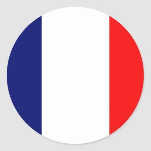 French Flag Classic Round Sticker Zazzle Com France Flag French Flag Flag Printable