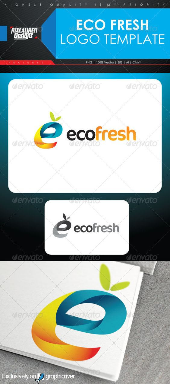 Eco Fresh Logo Template