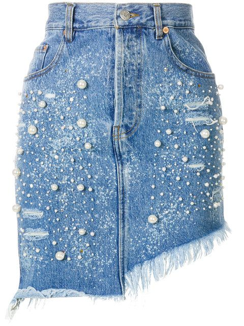 Women Ladies Ripped Distressed Faded Bodycon Mini Denim Skirt Summer Holiday