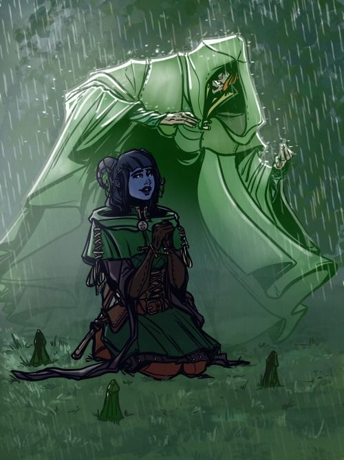 2 93 The Traveller Protects Jester From The Rain And Everyone Sees Him Critical Role Characters Critical Role Critical Role Fan Art