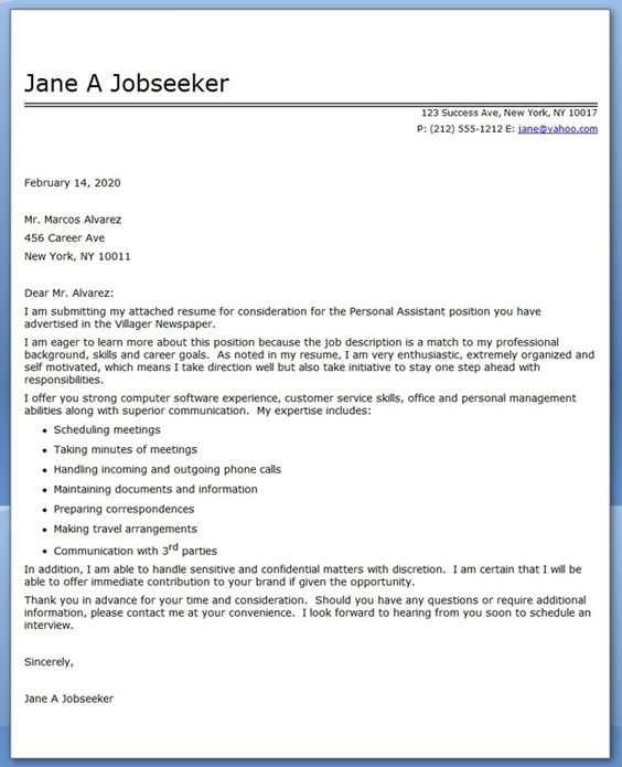 personal assistant cover letter sample - Estate Manager Cover Letter