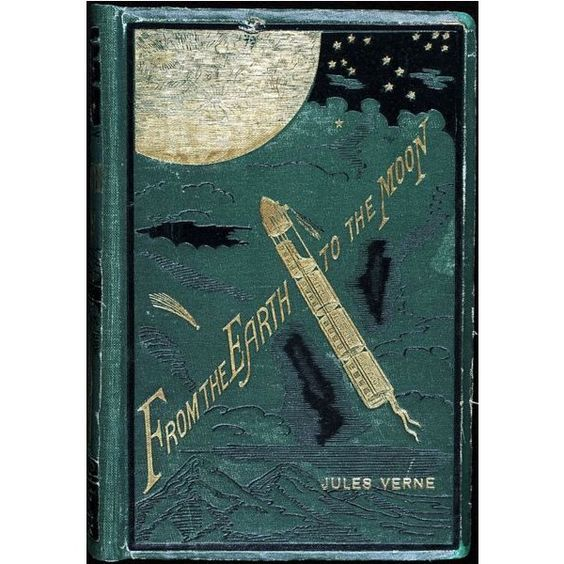 Datei From the Earth to the Moon Jules Verne.jpg ❤ liked on Polyvore featuring books and fillers