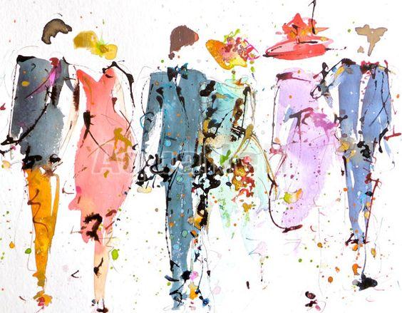 aquarelle mariage portrait de famille illustration tlcharger pour faire part cadeau invits dcoration murale thme mariage - Etsy Faire Part Mariage