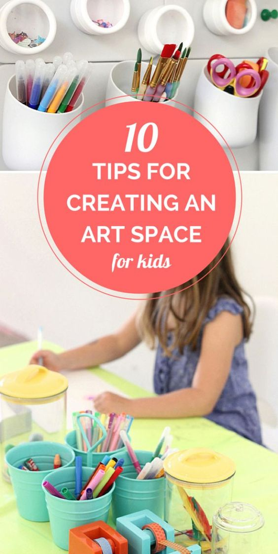 Top 10 tips for creating an inviting, functional and playful home art space for kids.   Megan Schiller from The Art Pantry.