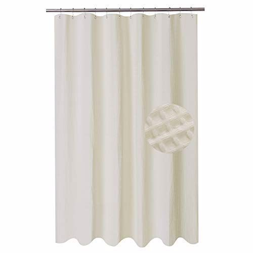 Barossa Design Extra Long Fabric Waffle Weave Shower Curtain 84