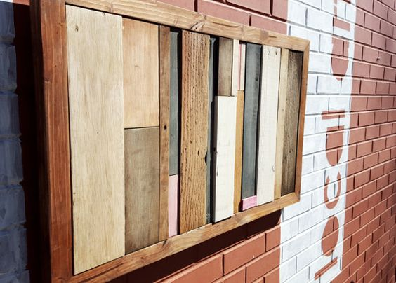 This Pallet Wood Art is made by our artisans in Colorado Springs from reclaimed  wood and - Reclaimed Pallet Wood Art Luci