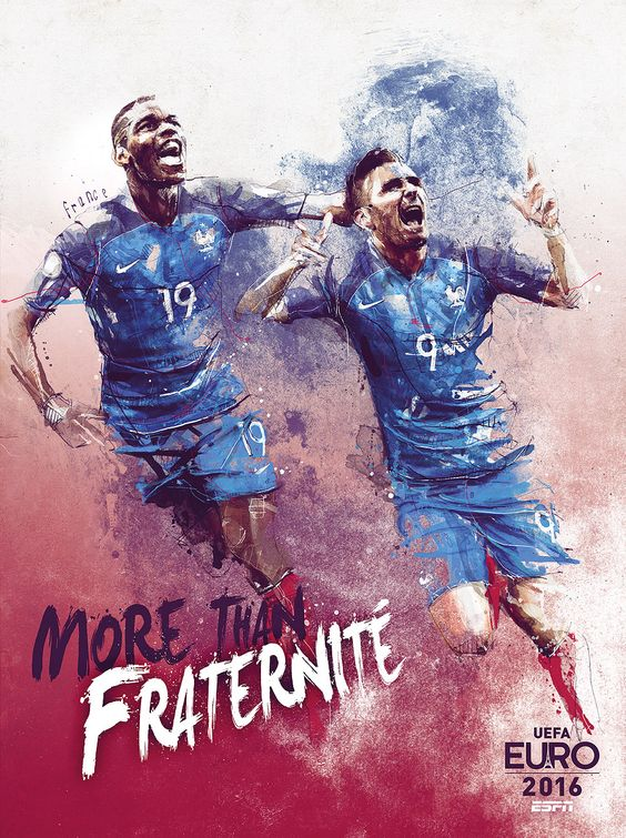 ESPN Uefa Euro 2016 Team Posters France
