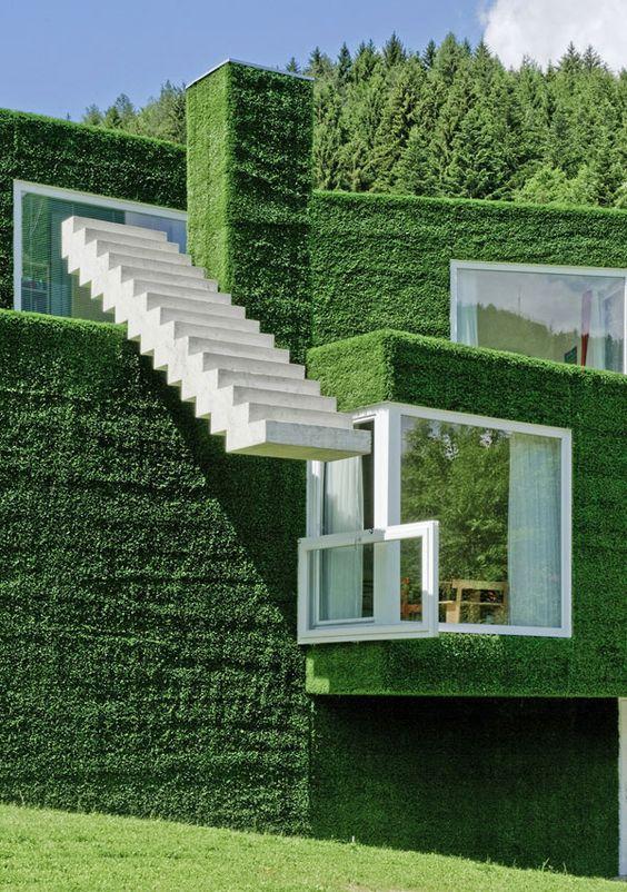 Grass covered house, Frohnleiten, Austria