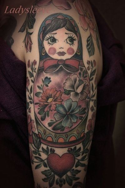 matroschka tattoo / russian doll
