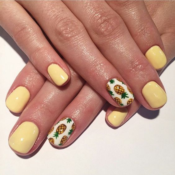 "57 Likes, 2 Comments - Seasons Salon And Day Spa (@seasonssalonanddayspa) on Instagram: ""Yummmmm... the cutest pineapple ever!!! Nails by Sierra @seasonssalonanddayspa #nailart…"""