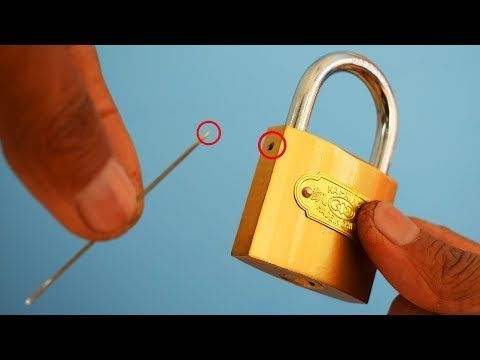 How To Open A Lock Very Easy Youtube Lock Picking Tools Easy Youtube Student Hacks