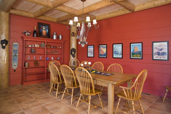 painted log homes eastern white pine painted red aspen ceiling. Black Bedroom Furniture Sets. Home Design Ideas