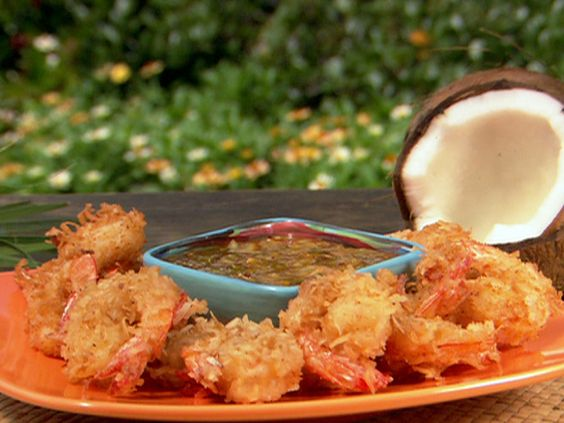 Get this delicious and easy-to-follow Coconut Fried Shrimp with Dipping Sauce recipe at Food Network.