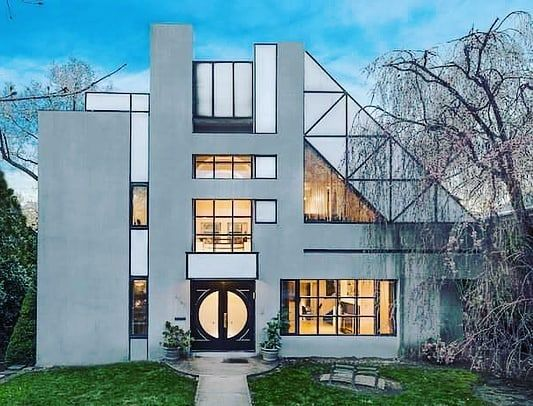 Archzinecom Join Us As We Explore 70 Brilliant Examples Of Postmodern Architecture An Architecture Architecture House Modern Architecture House