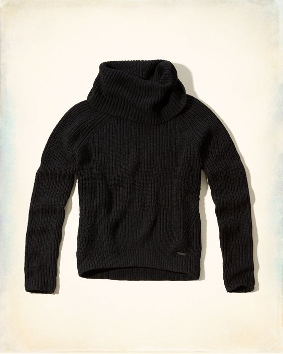Supersoft and cozy with a textural shaker stitch design, foldover cowl neck and logo at left hip, Imported<bR><br>58% cotton / 22% acrylic / 20% polyester