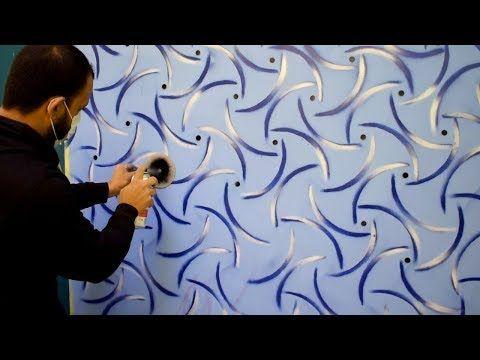 حيلة مبتكرة لعمل ديكور ستنسل ثري دي بقطعه كرتون 2 Youtube 3d Wall Painting Wall Painting Wall Paint Designs