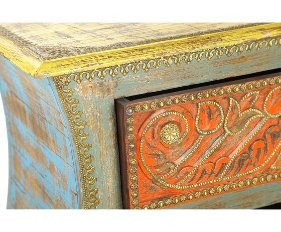 Комод (4 ящика) - дерево манго, 89 x 41 x 88 см | Westwing Интерьер & Дизайн: