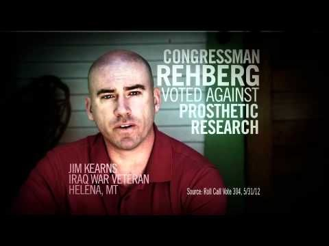 """""""Lucky"""" ad from Patriot Majority USA and Vote Vets opposing Denny Rehberg, Republican candidate from Montana for Senate. 7/4/2012"""