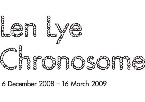 Len Lye: Chronosome bespoke lettering for exhibition branding for Govett-Brewster Art Gallery, by Studio Kalee Jackson www.kaleejackson.com