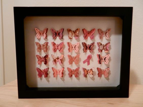 Breast Cancer Butterflies by KristynsKreations517 on Etsy, $30.00