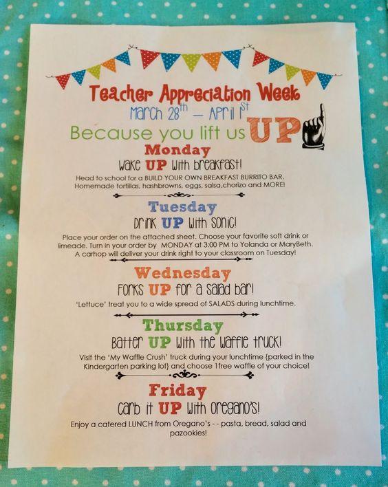 Teacher Appreciation Week ideas | Teacher Appreciation ...