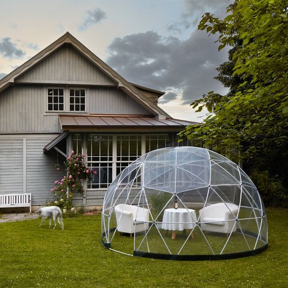 Garden Igloo 360 Dome With Clear PVC Winter Canopy