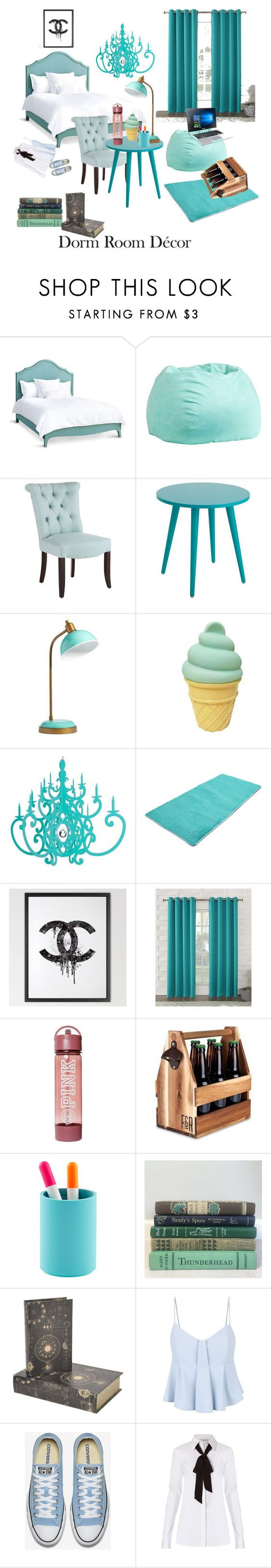 """Tiffany n co blue"" by tiffany2016t ❤ liked on Polyvore featuring interior, interiors, interior design, home, home decor, interior decorating, Redford House, PBteen, Pier 1 Imports and Chanel"