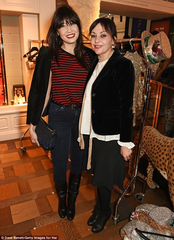Mum's the word: Not the only mother/daughter combo on the night, Daisy and Pearl Lowe also showed up to the infamous department store's event together